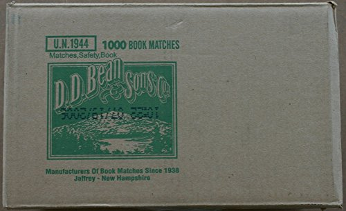 Learn More About 1000 Book Matches D.D. Bean & Sons co.
