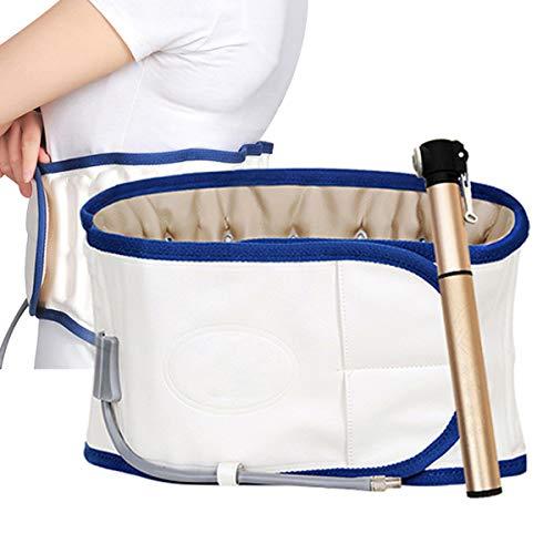 GHHYS Faja Lumbar para la Espalda, cinturón Protector de Cintura con tracción de Aire, Ajuste de Soporte Lumbar Inferior, Alivio del Dolor y prevención de Lesiones