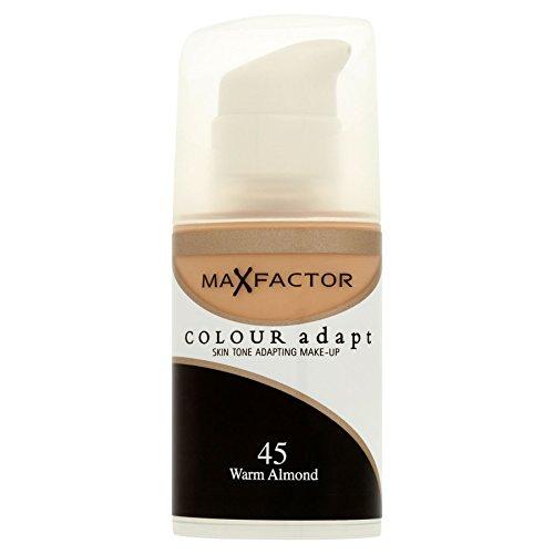 3 x Max Factor Colour Adapt Skin Tone Adapting Foundation 34ml - 45 Warm Almond
