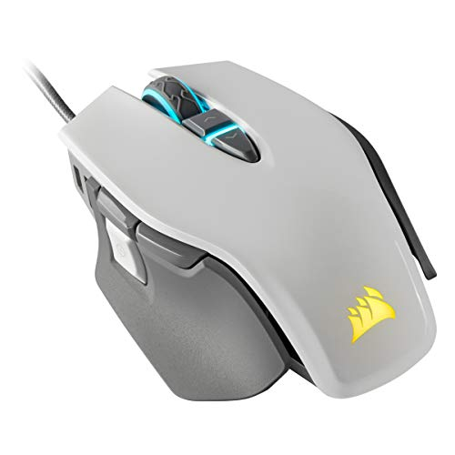 Corsair Sabre RGB PRO Champion Series Gaming Mouse (Ergonomic Shape for Esports and Competitive Play, Ultra-Lightweight 74g, Flexible Paracord Cable, Corsair QUICKSTRIKE Buttons with Zero Gap) Black