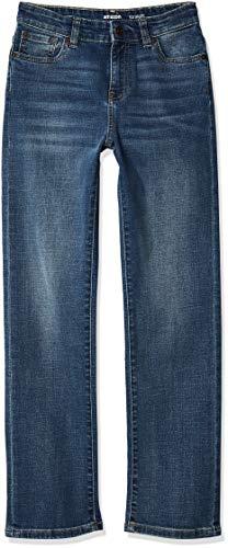 Amazon Essentials Jungen Stretch-Jeans mit geradem Schnitt, Helle Waschung, 12 Husky