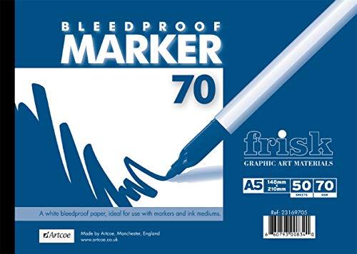 Frisk Bleedproof Marker Papieren Pad A5 70gsm, Wit
