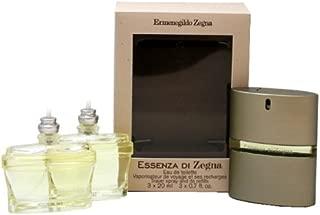 Ermenegildo Zegna Essenza Di Zegna Eau De Toilette Spray Travel Pack for Men, 0.7 Ounce