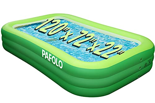 Inflatable Swimming Pool, 120  X 72  X 22  Full-Sized, Ultra Thick 0.4mm, Unique 3-Tier Design, Swimming Pool for Backyard  Outdoor Garden Summer Water Party