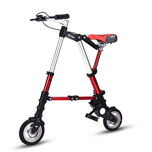 WZR Mini Plegable Bicicleta,Ultra Ligero 8' 10' Bicicletta,Portátil Al Aire Libre Tránsito del Metro Vehículos Foldable Bicicleta