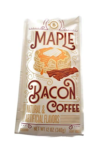 Maple Bacon Ground Coffee! One 12 Oz. Bag! This Unique Light Roast Blends All Your Favorite Breakfast Flavors Into One Indulgent Cup Of Coffee!