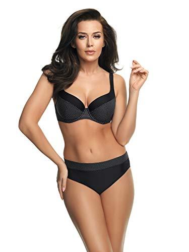 Selente My Secret attraktive Bademode (Bikini/Badeanzug) in großen Größen (C-Cup bis H-Cup) mit vorteilhaftem Schnitt, Bikini Schwarz/Weiß gepunktet, Gr. 85H