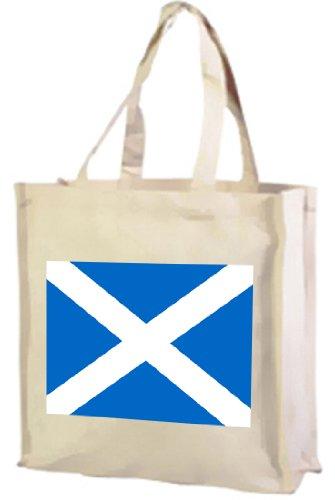Schottische Flagge, Baumwolle Einkaufstasche Creme