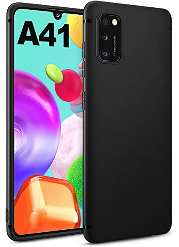 BENNALD Hülle für Samsung Galaxy A41 Hülle, Soft Silikon Schutzhülle Case Cover - Premium TPU Tasche Handyhülle für Samsung Galaxy A41 (Schwarz,Black)