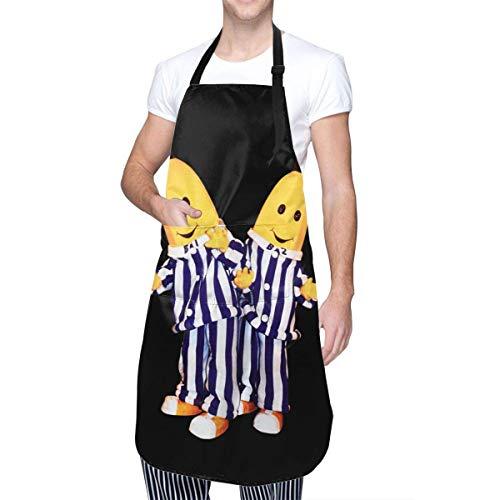 Anime & Bananen im Pyjama - B1 und B2 Kochschürze mit Tasche für Männer Frauen