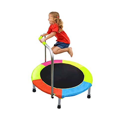 DRM Junior Trampoline with Handle Indoor Outdoor Kids Trampoline with Sturdy Frame and Safety Padded Cover for Children Toys