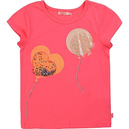 Billieblush T-Shirt Fantaisie en Coton Enfant Rose Fluo 10ANS