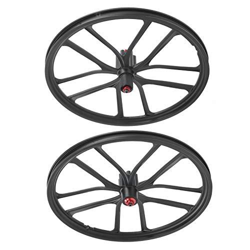 LLF Rueda de Bicicleta, Juego De Ruedas De Bicicleta, 20in Mountain Bike Disc Freno Wheelset, Bicycle Hub Integration Casette Wheelset