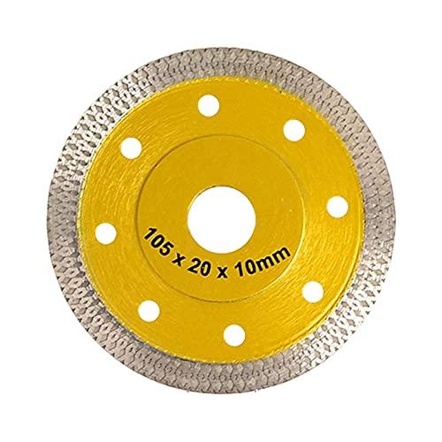 kengbi Kit de Rueda de Corte de Diamante ampliamente Usado Turbo Diamond Saw Blade Granite Mármol de Corte de mármol para moldea de Porcelana Hojas de cerámica 3 Color 105/115 / 125mm para mo
