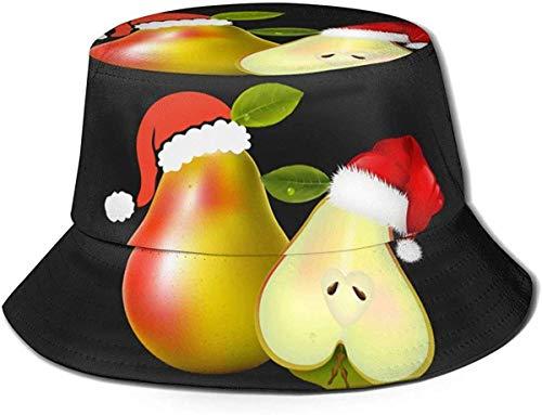 Amante de Santa Sombrero Pera Unisex Sombrero de Cubo Sombrero de Sol Plegable Sombrero de Pescador Gorra para Acampar al Aire Libre Pesca Safari