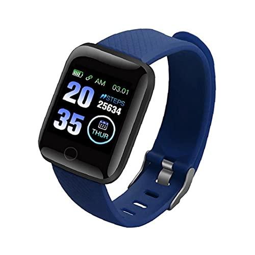 FeelMeet Bluetooth Pulsera de Reloj Inteligente teléfono móvil Inteligente los Hombres y Las Mujeres del Reloj de la Aptitud Prueba 116Plus Azul de la presión Arterial Resistente al Agua