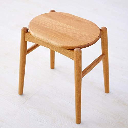 YUMUO Hocker Hocker Hocker Hocker Hocker Bank Chinesisch Original Holz Bambus Hocker Bank Wechselbank Makeup Stuhl Japanischer Bank Hocker (Farbe: Eiche)