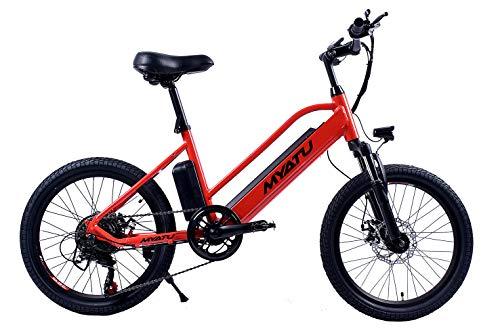 """BIKFUN Bicicletta Elettrica Pieghevole, Bici al Lavoro, E-Bike,Fold 20""""/26"""", Adulto, 250W Batteria 36V 8Ah, Cambio Shimano a 7 velocità (20' Youth)"""