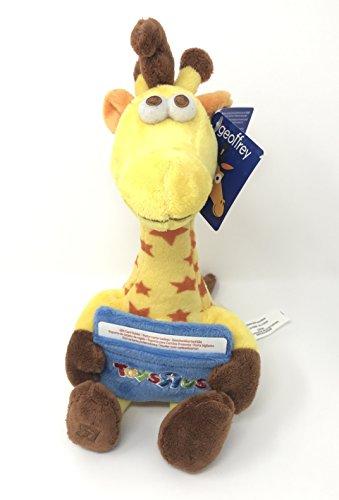 Toys 'R' Us Geoffrey Giraffe mascot plush with gift card holder pocket