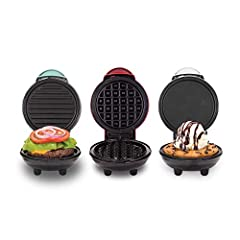 INCLUDES: Dash Mini Griddle, Dash Mini Waffle maker, Dash Mini Grill and Recipe guide COMPACT + LIGHTWEIGHT: Weighing 1lb+, this is a MUST-HAVE for that first apartment, smaller kitchen, college dorm life, or camper/RV traveling QUICK + EASY: Simply ...
