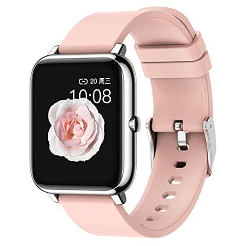 DKM Moda Toque Completo Reloj Inteligente Relojes para Hombres Relojes Deportivos Electrónicos Reloj De Señoras Andriod iOS Horas De Reloj,C