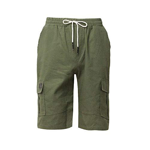 OKJI Mens Militaire Cargo Shorts Mens Beach Shorts Losse Werk Casual Korte Broek Mannen Multi-Pocket Sport Fitness Shorts