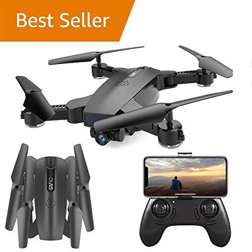 WANGKM RC Drone Telecamere, 720 P HD FPV Doppia Fotocamera 120 ° FOV RC Quadricottero, Altitude Hold, modalità Headless, 3D Flip, Batteria Modulare, per Principianti Bambini e Adulti,Black