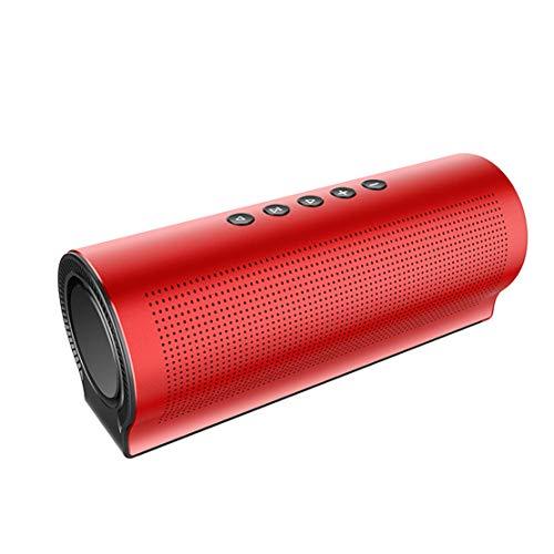 HIOD Altavoz Bluetooth Inalámbrico Subwoofer Estéreo Micrófono de Reducción de Ruido Alcance Bluetooth 33 Pies Mini Altavoz Portátil para Familia Al Aire Libre Viajar,Red