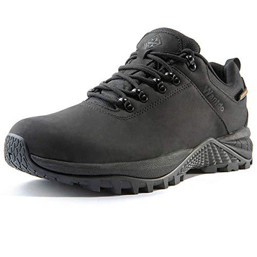 Wantdo Botas de Senderismo Impermeables para Hombre al Aire Libre Zapatillas de Moda Casual Ligero Zapatos de Nieve Transpirable Running Trekking Multideporte Negro 2020 44 EU