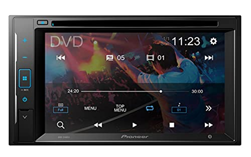 """Pioneer AVH-210EX Double DIN Bluetooth In-Dash DVD/CD AM/FM Front USB Digital Media Car Stereo Receiver 6.2"""" WVGA Touchscreen Display, Apple iPhone and Android Music Support"""