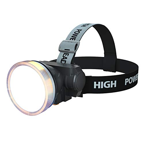 ODEAR LED Rechargeable Mini Headlamp Light Flashlight Small Headlight for Outdoor Camping Right Ride (White Light)