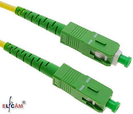 Compatibile con FTTH Fibra Fornito con L adattatore SC//APC per Allungare cavo fibra Bianco Elfcam 20M Cavo Fibra Ottica SC//APC per SC//APC Simplex Monomodale