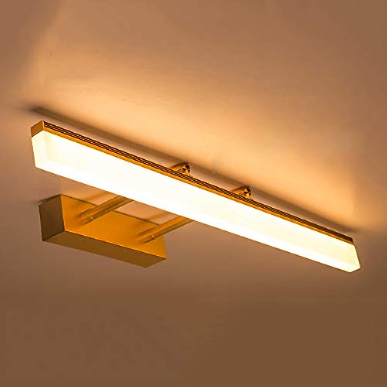 CCSUN Wasserdicht Verstellbar Led spiegelbeleuchtung, Modren Doppel-waffen Kabinett spiegelbeleuchtung Led spiegelleuchte badlampe Wand-lampen - 40cm(15.7 in)-Gold - warmes Licht 8W