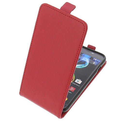 foto-kontor Tasche für Archos 50c Platinum Smartphone Flipstyle Schutz Hülle rot
