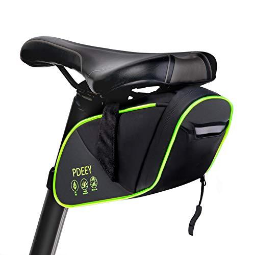 PDEEY Borsa da sella per bicicletta, a LED, per mountain bike, impermeabile, borsa per bicicletta, borsa per bicicletta, borsa da corsa, per mountain bike, accessori per bicicletta