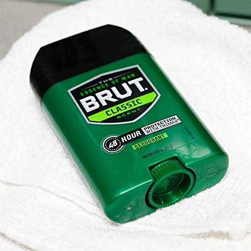 Brut Antiperspirant, Solid Oval, 2 Ounces (Pack of 12)