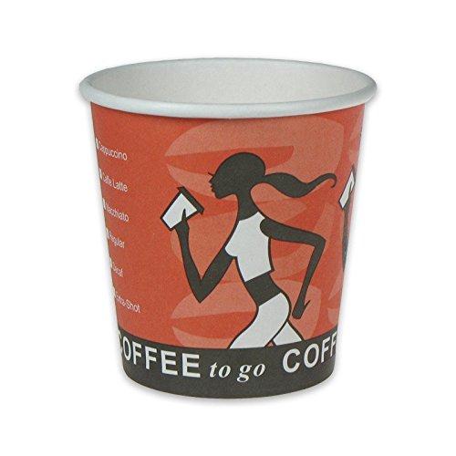 pack2go 1000 Premium Kaffeebecher, Pappe, Heißgetränke-Pappbecher, Hot Cup aus rein weißem Hartpapier, toGoPappbecher, Coffee to go Becher Coffee Grabbers - 6oz, 150ml