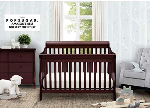 Delta Children Canton 4-in-1 Convertible Crib – Easy to Assemble, Espresso Cherry