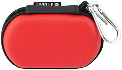[USB Flash Drive Case] - Lensfo Universial Portable Waterproof Shockproof Electronic Accessories Organizer Holder / USB Flash Drive Case Bag - Red