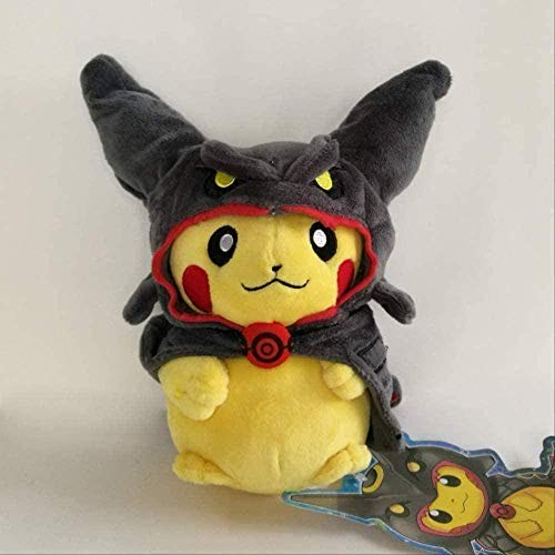 NC56 Pikachu Cosplay in Cape Costume Plush Doll Stuffed Animal Teddy Shiny Rayquaza 8in.