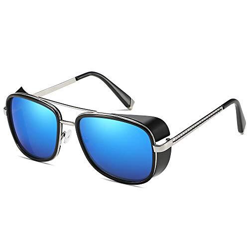 Gafas De Sol Hombre Mujeres Ciclismo Gafas De Sol con Montura Metálica Gafas De Sol Cuadradas Hombres Gafas Gafas Accesorios-Ts4
