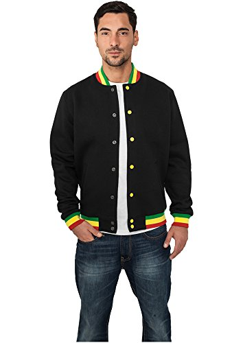 Urban Classics Contrast College Sweat Jacket tb133