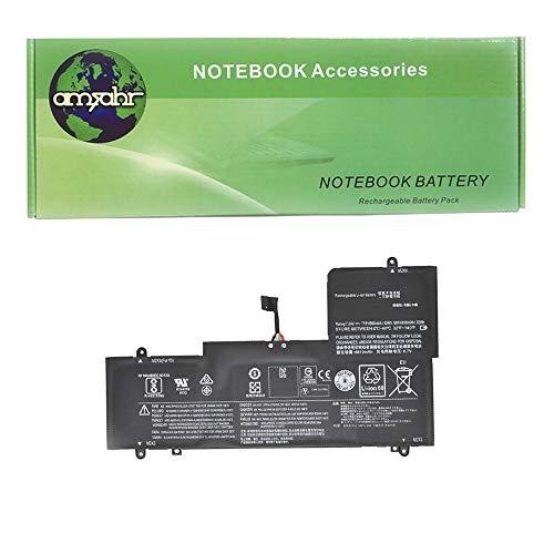 Amsahr L15M4PC2-03 - Batería de reemplazo para Lenovo L15M4PC2, 5B10K90802, L15L4PC2, Yoga 710-14ISK-ISE (Incluye Auricular estéreo) Color Gris