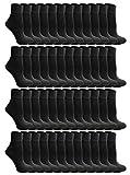 SOCKS'NBULK 60 Pairs of Women's Ankle Socks, Wholesale Bulk Pack Athletic Sports Socks