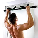 Pure Fitness Adjustable Multi-Purpose Doorway Pull-Up Bar in Black (8733WB)