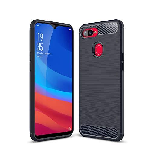 HERCN Oppo F9,Oppo F9 Pro 6.30 Case, Ultra Slim Soft TPU Silicon Rubber Case Protective Back Case Cover for Oppo F9,Oppo F9 Pro Smartphone (Blue)