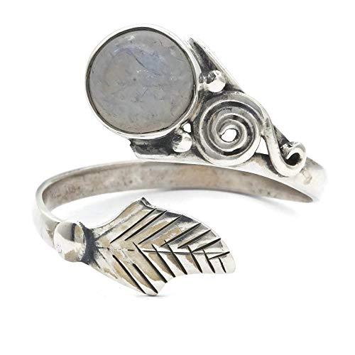 Mondstein Ring 925 Silber Sterlingsilber Damenring weiß verstellbar (MRI 149-04)
