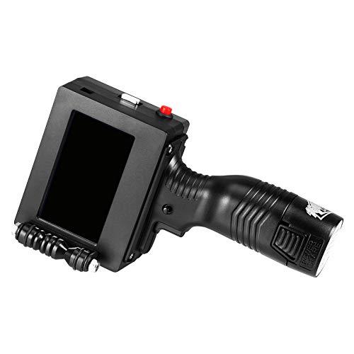 Kacsoo Handheld-Drucker, 4,3-Zoll-600-DPI-Touchscreen, Schnelltrocknende Tintenpatrone für Warenzeichen, Etikett, Logo,...
