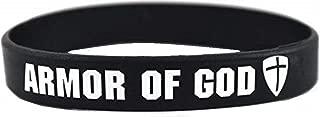 Armor of God Silicone Rubber Wristband Bracelet [Adult - Black]