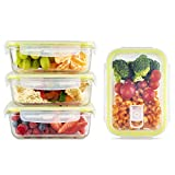 Zoë&Mii Lebensmittelbehälter aus Glas 8 teilige Set 850 ml - Hochwertige und luftdichte...